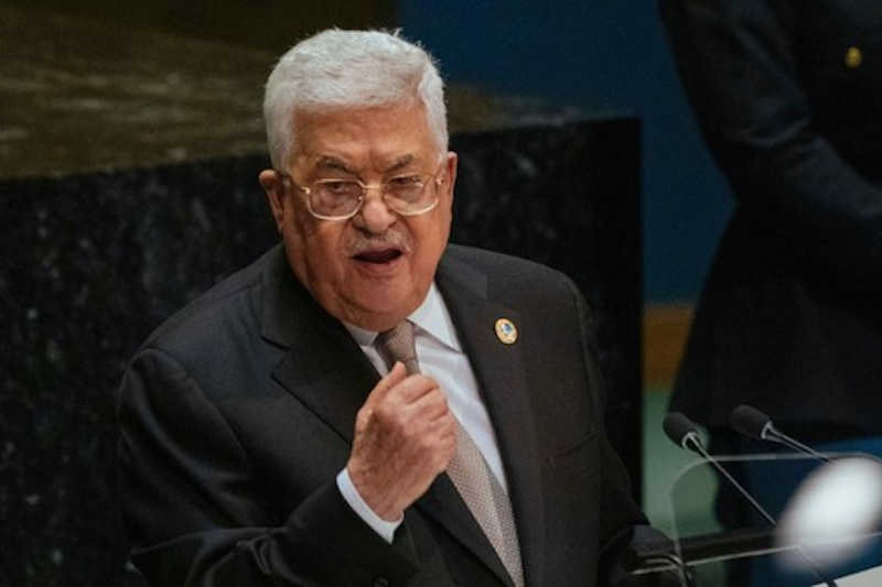 Palestinian President Mahmoud Abbas addresses the United Nations General Assembly at U.N. headquarters Thursday, Sept. 26, 2019.
