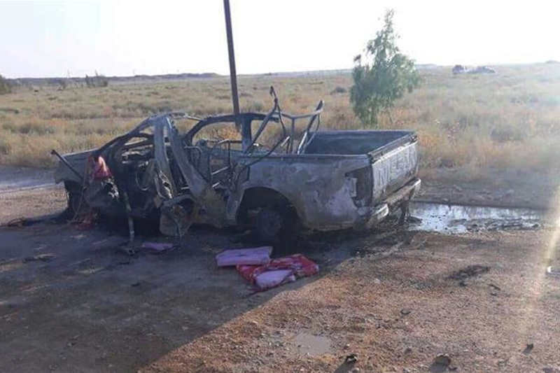 The attack took place in Syria's Al Bukamal in the eastern province of Deir Az Zor