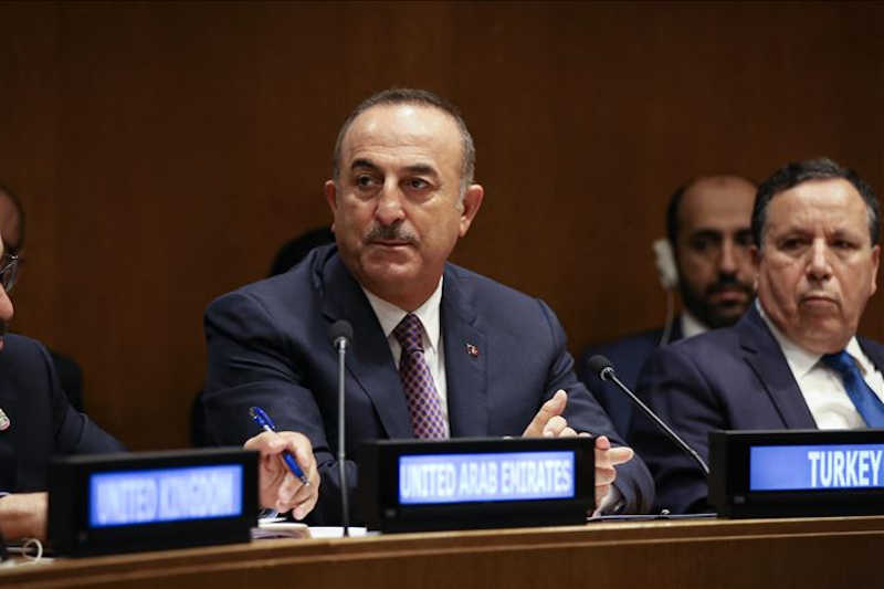NEW YORK, USA - SEPTEMBER 26 : Minister of Foreign Affairs of Turkey, Mevlut Cavusoglu attends Meeting of Foreign Ministers' of the Ad Hoc Liaison Committee (AHLC) within the 74th session of UN General Assembly in New York, United States on September 26, 2019.